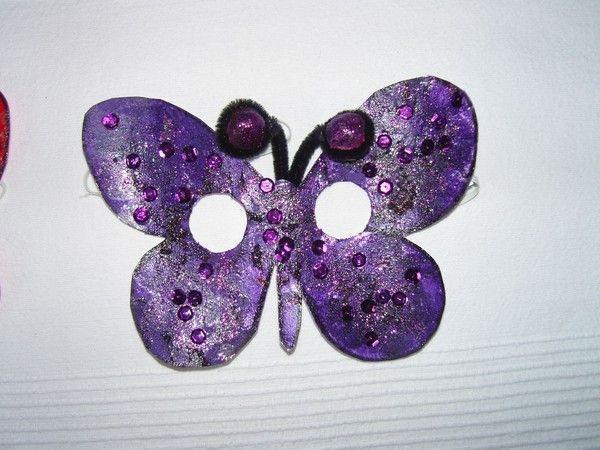 Masque papillon violet pour le carnaval - Masque papillon carnaval ...