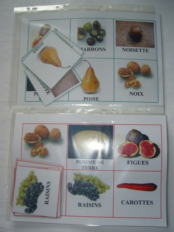 Loto sur les fruits et l gumes d 39 automne - Fruits automne maternelle ...