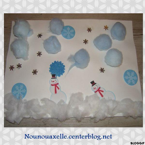 Activites manuelles hiver - Carte de voeux activite manuelle ...
