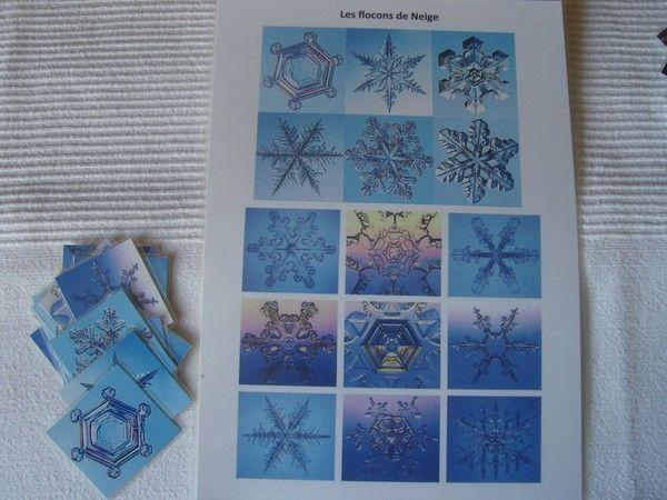 Flocons de neige r alis s en papier dessiner un flocon de neige en maternelle - Dessiner un flocon de neige ...