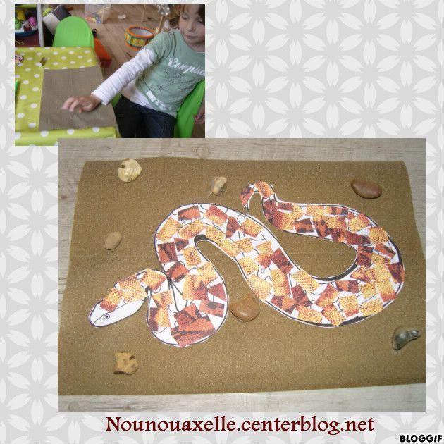 Activites serpents reptiles - Activite manuelle avec du papier ...
