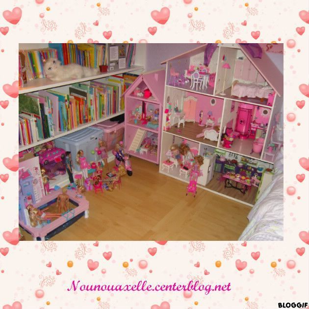 agrandissement de la maison de barbie. Black Bedroom Furniture Sets. Home Design Ideas